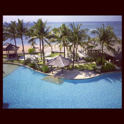 the massive pool (Taken with Instagram at Conrad Resort and Spa, Bali)