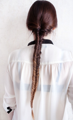 hair photo white style black Grunge shirt braid long hair ombre dip dye dye