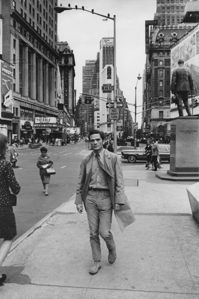 Italian director Pier Paolo Pasolini in New York, 1960s.