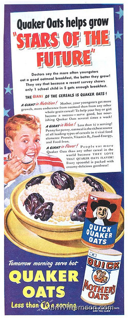 oldads:  Quaker Oats - 19501001 LHC on Flickr. Website | Flickr | Tumblr | Twitter