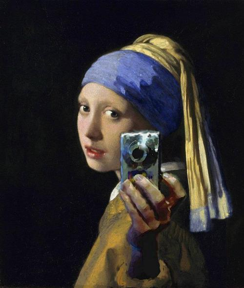 "kenyatta:  Mirror Self Shot of Vermeer's ""Girl with a Pearl Earring"""