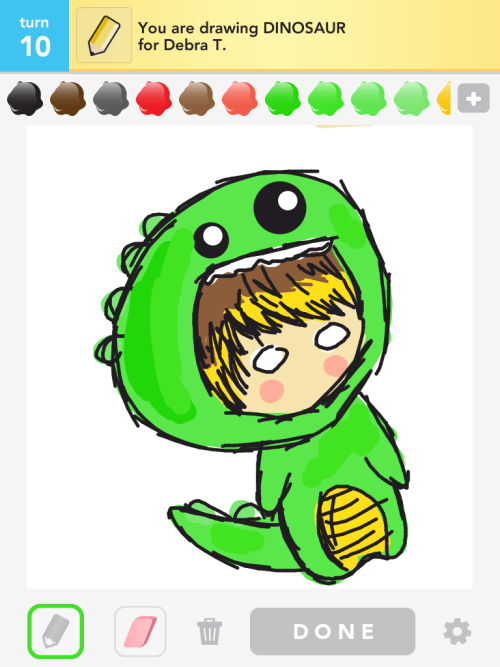 Drew Jonghyun from SHINee as a dinosaur :)