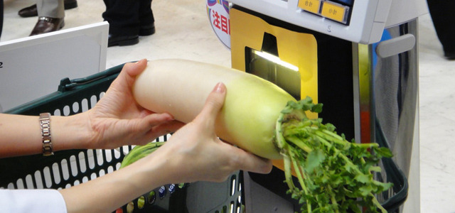 Supermarket scanner recognizes objects without barcodes   We recently reported on an innovation from Touchcode, which has developed invisible scannable tags to leave more space for content on printed products. Achieving similar results through different technology, Toshiba Tec has now created the Object Recognition Scanner, which reads items without the use of barcodes. READ MORE…