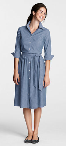 Another great sale dress from Land's End. This Vintage Chambray dress is now half off, at $39.99. Love this for spring!