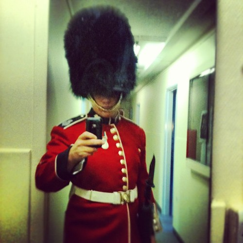 In #london visiting friends, weird to think 2 years ago this was me #guards #queen #buckinghampalace #thisisengland  (Taken with instagram)