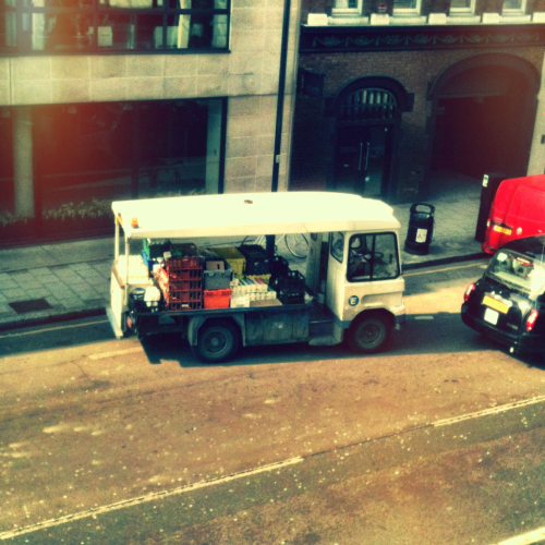 One thing I'll miss about London are the milk and bread delivery trucks.