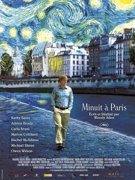 Okay, so about an hour ago I finished watching Midnight In Paris. It stars Owen Wilson, Rachel McAdams, Adrian Brody and many more. My first reaction to this film was that it was brilliant. I think the costumes were fabulous!One thing I did particularly like was Rachel McAdams as she is such  a lovely actress but her character is awful, I have never seen this side of her before, which shows she is pure. The story was great also, basically to talk about it in a simple way. Gil (Owen Wilson) is with his future wife (Rachel McAdams) and her parents in Paris. They meet a couple of her friends and go out with them. Gil dislikes them and instead of dancing goes for a midnight stroll in Paris, and midnight a car comes along his way where he suddenly finds himself in the 1920s (a little hard to believe, but have an imagination) -which has been his dream for years. He mets many writers and artist from this time, but is plummeted back into reality during the day. Every night he makes the exhibitions meeting many more people, and makes mistakes etc. I leave the plot here because i do not want to ruin this. However it is a fantastic film and I would recommend it to anyone, especially if you enjoy french culture, vintage clothes and general class. I give this a 4 out of 5! Well done Owen a truly superb film. Opps and Woody Allen who wrote and directed it! :)