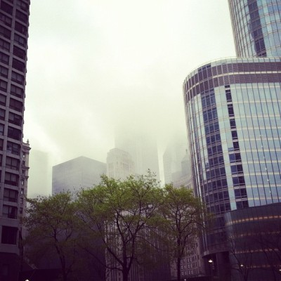favorite sort of weather. #gloomyandglorious (Taken with Instagram at Trump International Hotel & Tower Chicago)