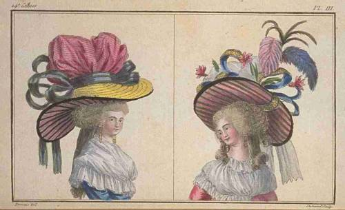 Cabniet des Modes (later Magasin des Modes), November 1786.  I know they look ridiculous, but I want to be them!