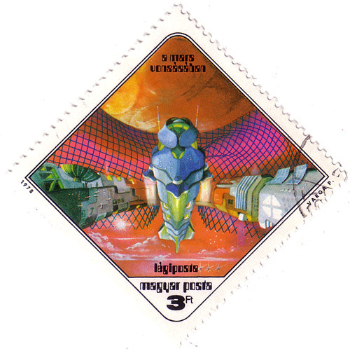Hungarian sci-fi stamps, 1978 via So Much Pileup