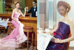 Vogue Italia March 2011-  A Precious Glam - Carmen Kass by Miles Aldridge
