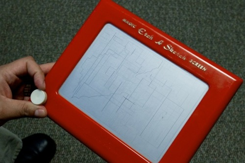 So, sales of Etch A Sketches are way up over the past couple of days. Wonder why.