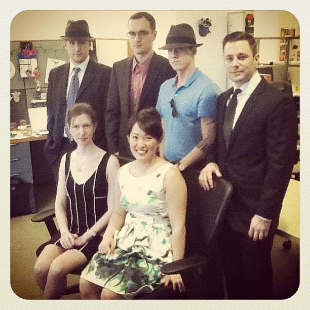 It's #MadMen #Friday at #GiltCity. Check out our gorgeous tech team! #mygiltcity  (Taken with instagram)