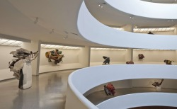 artlog:  Artlog and the Guggenheim are teaming up for a live Twitter interview with Senior Curator Susan Davidson, who worked closely with John Chamberlain on his current retrospective. Submit your questions via e-mail, Twitter, or Facebook by Friday, March 30, 5:00 p.m. EDT, and join us for the Q&A on Chamberlain's birthday—Monday, April 16 at 2:00 p.m.