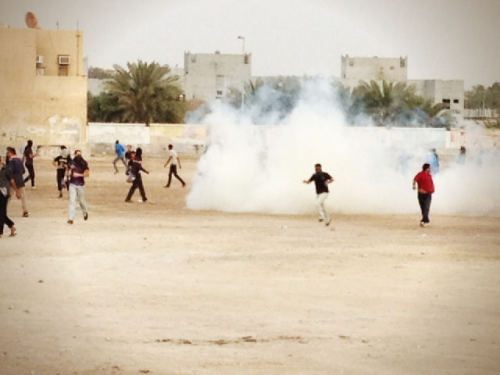 Tear-gassing sanabis protest in bahrain / 23 March 2012 via @iManamaa