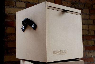 The Brewbicle is a portable cubby to store your booze.