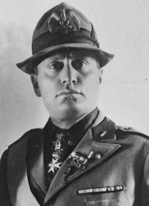 "On this day: 23rd March 1919. Benito Mussolini, an Italian World War I veteran and publisher of Socialist newspapers, breaks with the Italian Socialists and establishes the nationalist Fasci di Combattimento, named after the Italian peasant revolutionaries, or ""Fighting Bands,"" from the 19th century. Commonly known as the Fascist Party, Mussolini's new right-wing organization advocated Italian nationalism, had black shirts for uniforms, and launched a program of terrorism and intimidation against its leftist opponents."