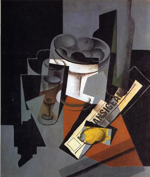 mohamedismailabdalla:  Juan Gris (March 23, 1887 – May 11, 1927) - Still Life with Newspaper ,1916