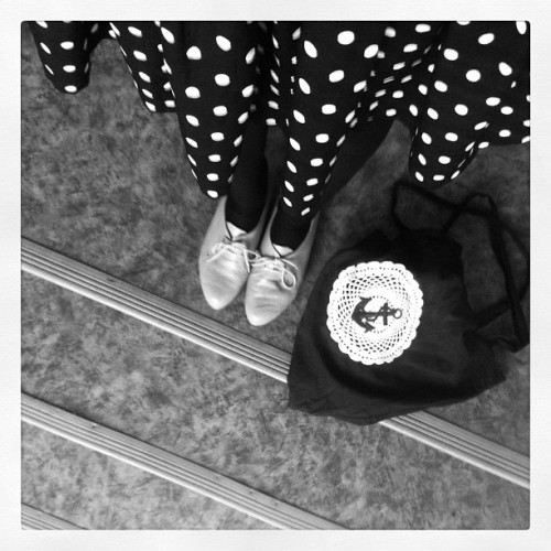 anchor & dots #whatiworetoday #polkadots #anchor #wiwt #bw (Taken with instagram)