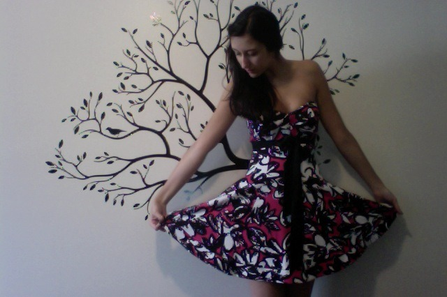 Look at my entire dress. I got this at the Betsey Johnson sample sale yesterday…among other things.