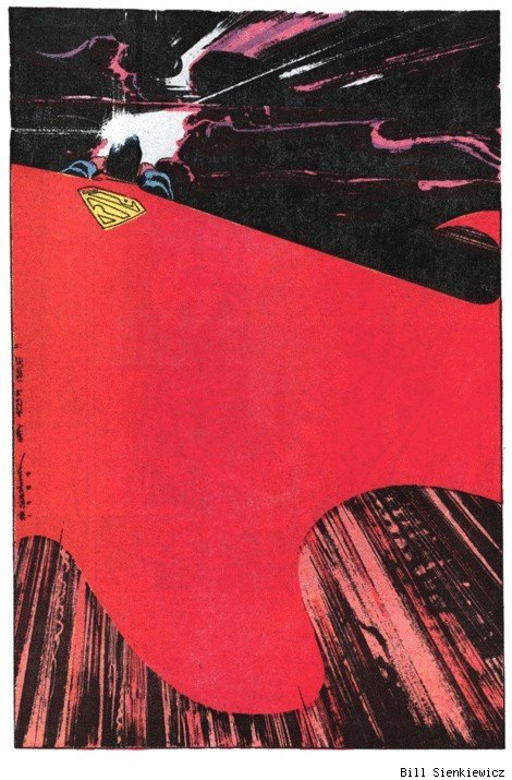 brianmichaelbendis:  Superman by bill sienkiewicz