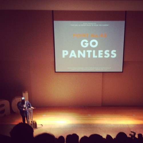 Pantless @draplin at #cmpdx (Taken with instagram)