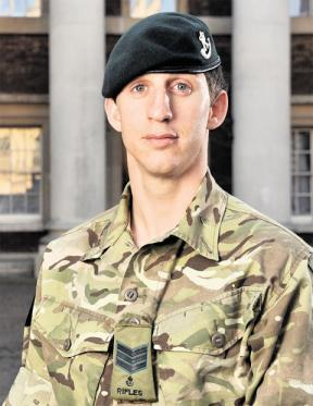 "A soldier from Kingswood who saved the lives of his men when he picked up and hurled away a live Taliban grenade is to be honoured for his bravery. Serjeant Deacon Cutterham of 1st Battalion the Rifles, 28, had just five seconds to plunge his arm into murky ditchwater, retrieve the high-explosive device and throw it to safety as he and his comrades were attacked while on patrol in troubled Helmand province. Today it was announced that the former Mangotsfield School pupil's actions had won him the Conspicuous Gallantry Cross, an award for bravery in military action surpassed only by the Victoria Cross. He said: ""As soon as I left my patrol base I knew something was up, something wasn't right. ""You can sort of tell by the atmospherics in the air. People who are normally sociable towards you don't want to talk to you."" He and his patrol were wading through an irrigation ditch, knee-deep in water, when the grenade came flying over a high wall and landed seven to ten feet in front of him. Sjt Cutterham said: ""I heard the 'ching' of the fly-off lever coming off it. It all happened so fast but so slowly. I just went into autopilot. I shouted 'get down, grenade', ran forward, grabbed it first time and just let go of it. I can't believe I didn't lose my fingers because as soon as I let go of it, it exploded. If I had missed it, it would have been game over. I'm comfortable around grenades and things like that. I know it sounds crazy but I am. It didn't faze me picking up a grenade."""