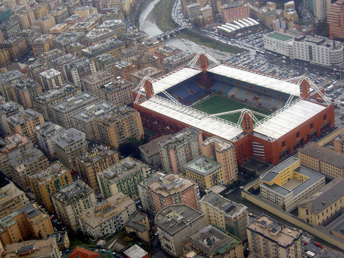 20. Stadio Luigi Ferraris Genova, Italy Built: 1911 - Capacity: 36,703 Home of Genoa CFC and UC Sampdoria. Photo by the Flickr account of mentelocale.it