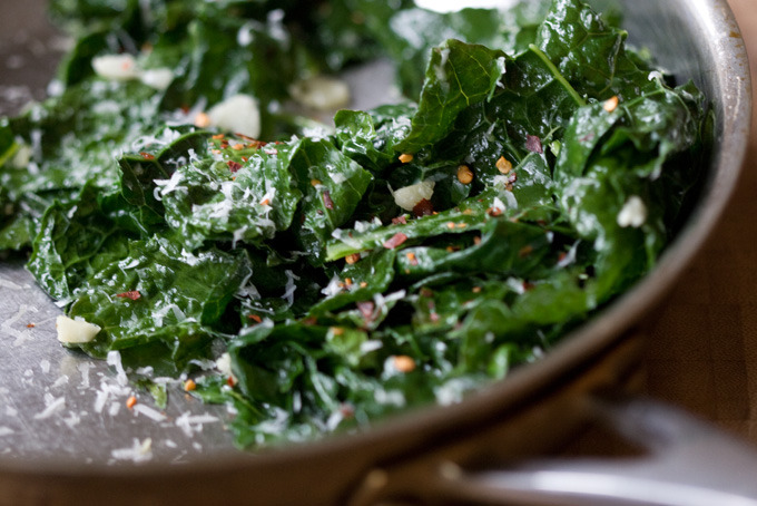 sustainable-sam:  Garlicky Greens Recipe
