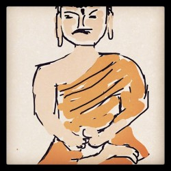 Buda bile cizdim ya #drawsomething #buddha (Taken with instagram)