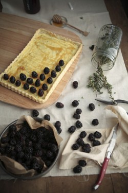 (via sustenance / blackberry goat cheese tart)