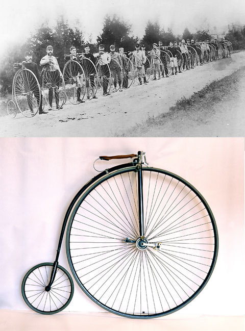 Columbia Light Roadster High-Wheel Bicycle, 1886 What comes to mind when thinking about spring—taking the bike out for a long ride? March 20 marks the first day of spring this year. This week's Smithsonian Snapshot celebrates the spring season with an original 1886 Columbia Light Roadster high-wheel bicycle. Sold originally for approximately $135, this bicycle was made by the Pope Manufacturing Co., the first company to manufacture bicycles in the U.S. This bicycle was available with seven sizes of front wheel, from 47 to 59 inches, and two sizes of rear wheel, 16 or 18 inches. This example is fitted with a 60-spoke, 53-inch front wheel, and a 20-spoke, 18-inch rear wheel. This group photo shows cyclists in one of America's first organized biking tours. The first rider is Charles E. Pratt, first president of the League of American Wheelmen, a national membership organization for cyclists. The riders are lined up outside Readville, Mass., in 1879. Established in 1889, the Smithsonian's cycle collection has 60 velocipedes, high-wheel bicycles and safety bicycles. These items reflect the technological developments and popularity of biking beginning in the late 19th century. These items are two of 137 million artifacts, works of art and specimens in the Smithsonian's collection. They are not currently on display. For more info about them, visit the museum's website. To view bicycle advertisements and catalogs from the late 1800s, visit the Smithsonian Institution Libraries' website.