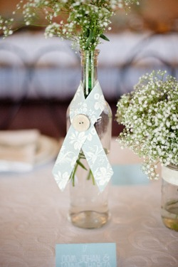Budget-friendly wedding centerpiece idea…