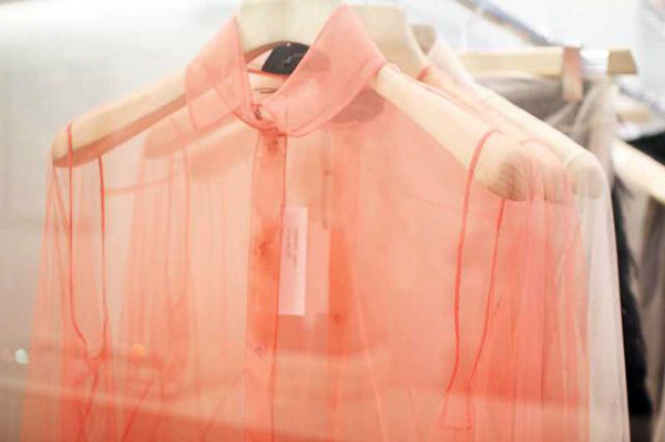 Sheer is in at any season. Brighten it up for spring and summer.