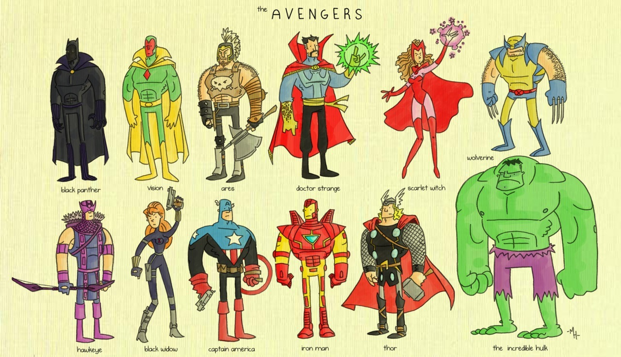 lulubonanza:  The Avengers by *tyrannus
