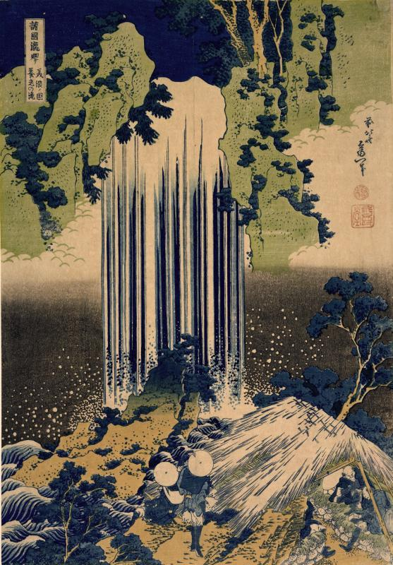 Hokusai, The Falls of Yoro, Province of Mino, c. 1827