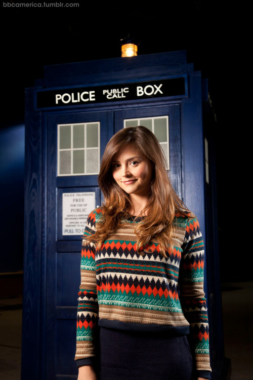 The first Official Doctor Who Photo of Jenna-Louise Coleman. Jenna-Louise Coleman, who will play The Doctor's new and as yet unnamed companion, in the hit British sci-fi TV series Doctor Who. Coleman will be introduced to audiences for the first time in the show's 2012 Christmas Special following the departure of the current companion Amy Pond, played by Karen Gillan, who will leave in episode 5 of the upcoming Series (7).