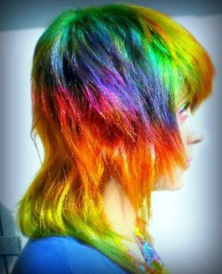 Rainbow Hair by ~DulceVelasco