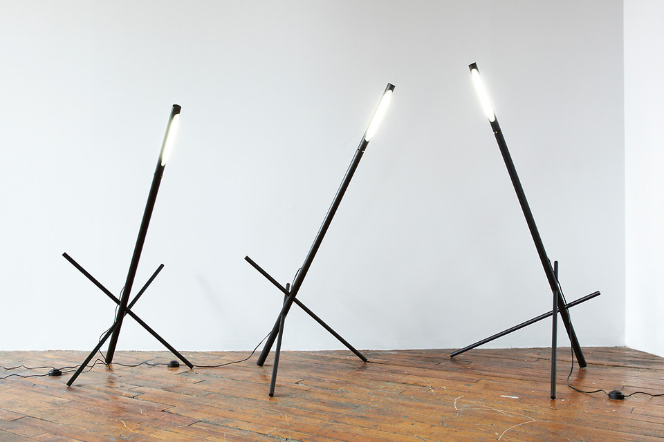 The canadian studio Castor transform factory parts into modern lamps.