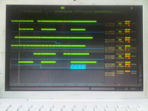 Putting the finishing touches on my new track. <3