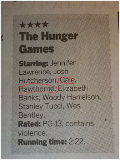 abettergrace:  According to my local paper, Gale Hawthorne will be played by Gale Hawthorne. I wish I could say this was the only time they made this mistake.