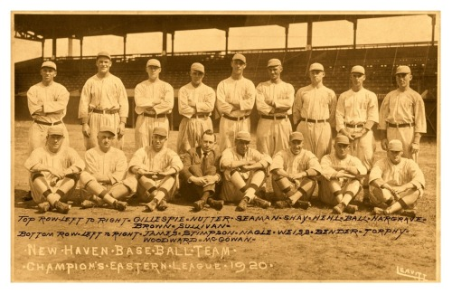 1920 New Haven Weissmen Team Some well known names on this team, none bigger than player/manager Chief Bender who went 25-12 with a 1.94 ERA en route to the 1920 Eastern League Championship. Of course, also of important note is HOF executive George Weiss whom the team is named after. Weiss would later become the Yankees GM (1947-60) as well as the first President and GM of the New York Mets (1961-66).