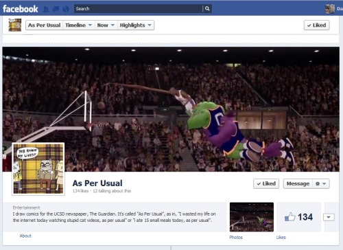 Welcome to the Space Jam.  Like As Per Usual on facebook here!