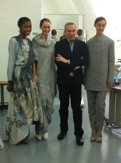 Amy, Sydney and Katrina with John Paul Gaultier at Academy of Art