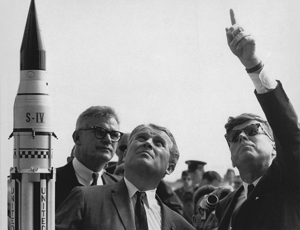Remembering the Nazi Scientist Who Built the Rockets for Apollo  Few figures in the history of technology provoke a reaction as quickly as Wernher von Braun. The rocket scientist was a card-carrying Nazi who built the world's first ballistic missile with slave labor from concentration camps. As the war wound down, he surrendered to the Americans and took his rocket-building team and talents to the United States. Eventually, he became a leader in the American space program, building the rocket (the Saturn V) that carried Apollo 11 to the moon. Today would have been his 100th birthday. He died in 1977. Roger Launius, a senior curator in the Space History Division of the National Air and Space Museum, wrote a nuanced evaluation of the man's life.  Wernher von Braun was a stunningly successful advocate for space exploration and has appropriately been celebrated for those efforts. But because he was also willing to build a ballistic missile for Hitler's Germany, with all of connotations that implied in the devastation and terror of World War II, many of his ideals have also been appropriately questioned. For some he was a visionary who foresaw the potential of human spaceflight, but for others he was little more than an arms merchant who developed brutal weapons of mass destruction. In reality, he seems to have been something of both.