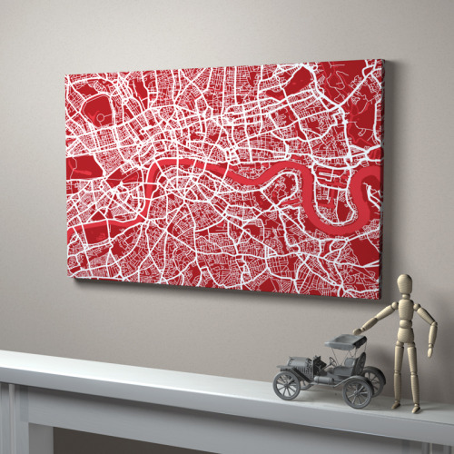 artmaps:  London Street Map on notonthehighstreet.com