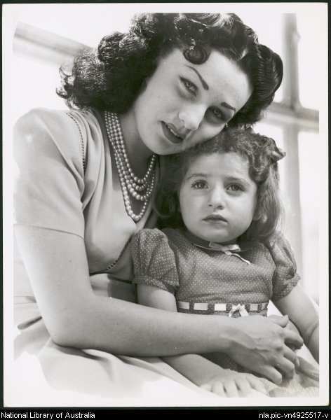 Queen Fawzia of Iran and Her Daughter Princess Shahnaz