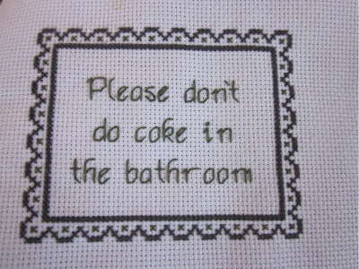 heyoscarwilde:  'Please' is the magic word. cross stitch by Erin C. :: via flickr.com