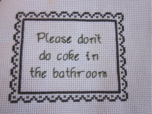 'Please' is the magic word. cross stitch by Erin C. :: via flickr.com