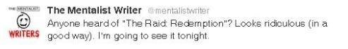 God damn, what's wrong with you, mentalist writers? Why did you promote that fucking amazing movie, too? God… people watch it! I mean it.